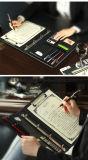 Carteira do negócio do dobrador de arquivo da conferência do couro da falsificação do portador do original