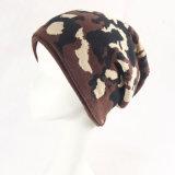 Шлем Beanie крышки жаккарда Camo двойного слоя простирания Mens мягкой связанный зимой теплый (HW422)