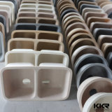 Pedra de resina artificial Taça Duplo Undermount pia de cozinha