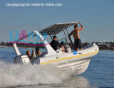 Da casca inflável de Hypalon do bote de Liya 6.6m (a) barco inflável Semi-Rigid