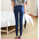 Skinny Broken Washing Jean with Straight Leg for Lady (HDLJ0042-17)