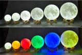 Управление цвета и касания ночи луны винила Свет-Двойное и перезарядка USB