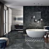 Глянцевая полированного камня взглянуть на полу плитка для гостиной ванная комната