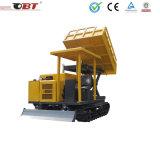 3 van de Diesel van de ton Vrachtwagen de MiniKipwagen van de Plaats met RubberSpoor