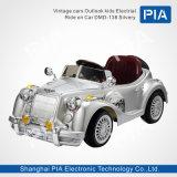 Vitage Auto-Aussicht scherzt elektrische Fahrt auf Auto-Fahrzeug-Spielzeug (Weiß DMD-138)