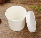Jetables en papier kraft conteneur isotherme Soupe de sortir de la soupe chaude tasse de papier