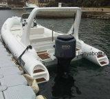 Barco inflável da casca da fibra de vidro das forças armadas de Liya 22FT feito em China