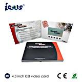 4.3 карточка LCD размера дюйма A5 видео- для промотирования дела