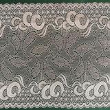 Tela de nylon del cordón del modelo blanco de la luna buena para la materia textil de la sari