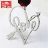 De goedkope In het groot Medaille Keychain van de Herinnering van de Liefde van het Metaal van de Manier van de Douane