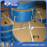 Do PVC flexível da água da bomba da irrigação agricultural de alta pressão irrigação amarela/azul/vermelha mangueira lisa colocada