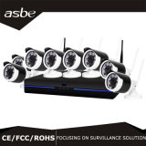 câmara de segurança sem fio do CCTV do IP do jogo de 1080P 8CH WiFi NVR