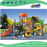 Дерево большой открытый дом оцинкованной стали игровая площадка для детей с часами (HG-10301)