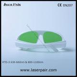 Laserpairからの630の- 660nm及び800 - 1100nmレーザーの保護ゴーグル