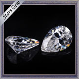 Todo el precio de venta 9*7 Forma de pera Moissanite sintética piedra