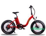 """26 """" 접히는 전기 자전거 48V 750W 후방 허브 드라이브 전기 자전거"""