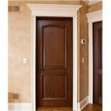 Porte d'entrée solide en bois de chêne d'oscillation intérieure avec la peinture
