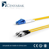 Duplex de 3 metros de cable de fibra óptica monomodo (9/125) LC a FC