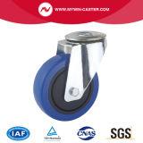 5 Zoll-blaue Gummirad-Verlegenheits-Platten-industrielle Fußrollen