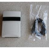 La potencia de salida de radiofrecuencia RFID UHF Desktop Reader afectan la distancia de unos 20 cm.