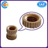 Noix droites moletées de traitement professionnelles en laiton de garniture intérieure de laiton