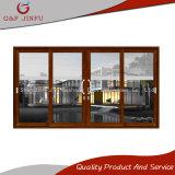 Puerta deslizante de cristal de aluminio con los obturadores/las persianas