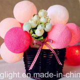 Stringa chiara approvata di Ce& RoHS con il fiore della fibra per la decorazione