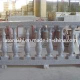 Natürliches weißes/Grün/rote/graue/gelbe Granit-Marmor-Balustrade