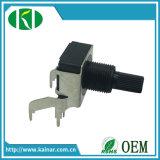 potenziometro rotativo B10k di Pin dell'asta cilindrica di plastica 3 di 16mm senza interruttore