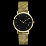 ステンレス鋼の普及したクラスの金の女性Elegent腕時計
