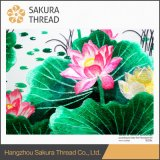 Presente pendurado flor bordado pintura com cenário para mobiliário doméstico