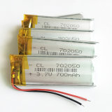 batterie rechargeable de lithium de 3.7V 700mAh 702050