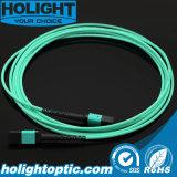 MPO au câble de connexion de fibre optique de MPO Om3