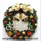 Venta caliente colorida decoración vacaciones de navidad artificial corona de flores
