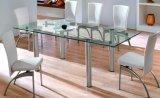 Effacer Transparent float trempé Table en verre Tops