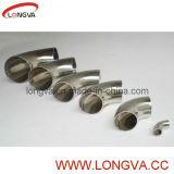 Coude de montage en tuyau d'acier inoxydable à rayon long