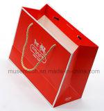 Grossy lamellierte das Stempeln der Luxuxpapiergeschenk-Beutel für Apprael/das Einkaufen