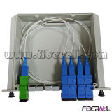 divisore di fibra ottica del PLC 1X4 in casella di plastica di Lgx