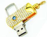 Stock-Metallschwenker USB-Blitz-Laufwerk Kristall USB-2.0 Pendtive