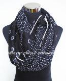 Commerce de gros points&Fleur polyester d'impression mixte de l'infini foulard (HWBPS870)