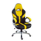 Spiel-Art-Rückseite PU-ledernen Metallrahmen-Büro-Stuhl hoch laufen