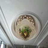 Lujo redondo de la talla grande y lámpara cristalina del proyecto de Morden para la decoración del hotel