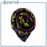 デジタル優雅な印刷は正方形の絹の絹のあや織りのスカーフを個人化する