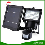 60 LED Solar Powered seguridad luz del sensor de movimiento LED de luz de inundación de la lámpara de pared montado en la luz de emergencia