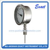 Termômetro de aço inoxidável - Termômetro bimetálico - Termômetro de conector deslizante