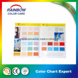 Taille A4 avec carte couleur couleur complète pour peinture murale