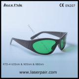Tipo de moda de laser vermelho 635nm e 905nm, 980nm Laser de diodo óculos de segurança (630-660nm & 800-830nm &900-1100nm) com a estrutura 55