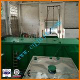 使用されたオイルのリサイクルおよび再生のための減圧蒸留のプラント