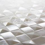 Telha quadrada branca pura do mosaico da face 20*20mm do arco do escudo de água doce