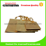 Durable Gold Laminated Printed Non Woven Shopping Folding Handbag for Packing Shoes